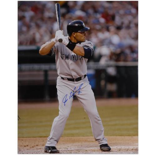 "Ivan Rodriguez New York Yankees Autographed 16"" x 20"" Vertical Batting Photograph - Fanatics Authentic Certified"