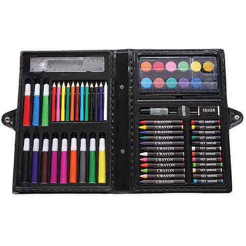 Darice Artyfacts Portable Art Studio Kit, 68 Pieces