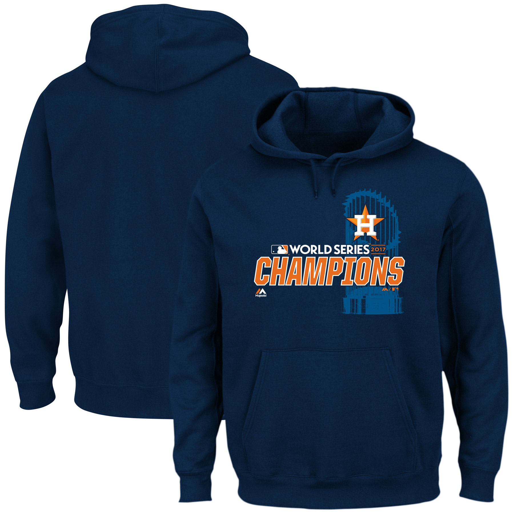 Men's Majestic Navy Houston Astros 2017 World Series Champions Favorite Hoodie