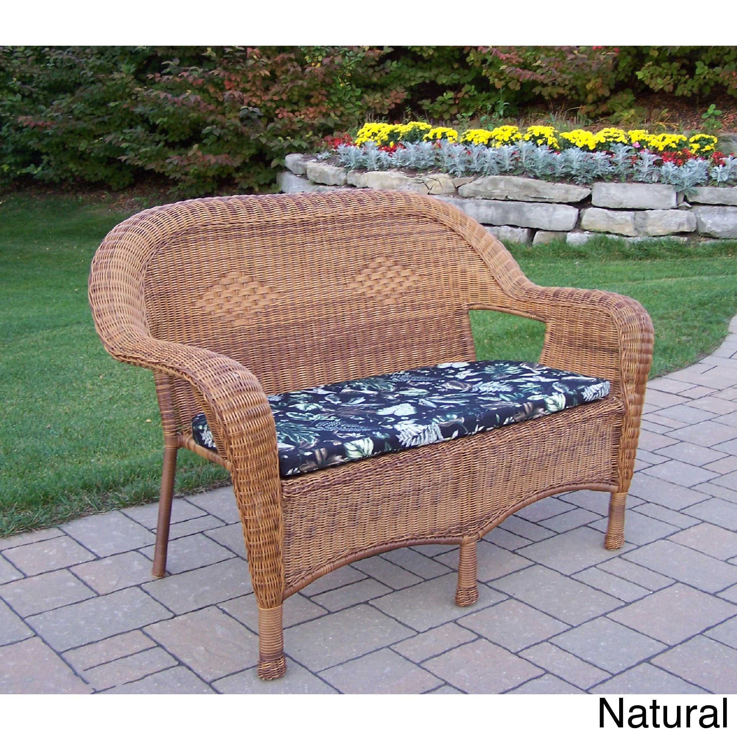Fantastic Oakland Living Corporation Premium Resin Wicker Loveseat Cjindustries Chair Design For Home Cjindustriesco
