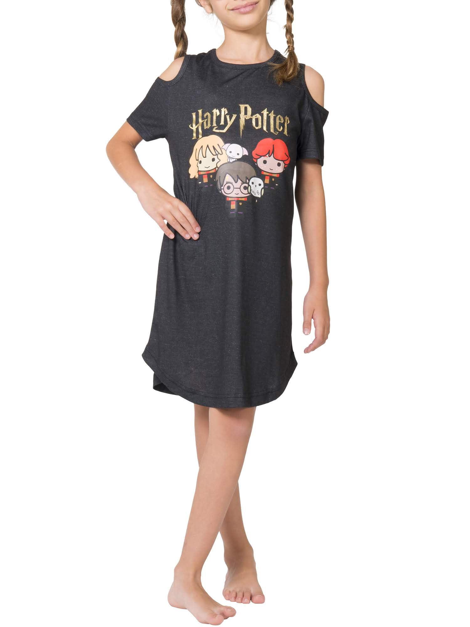 Harry Potter Chibi Art Cold Shoulder Pajama Nightgown (Little Girls & Big Girls)