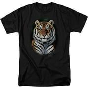 Wildlife Jungle Fire Mens Short Sleeve Shirt