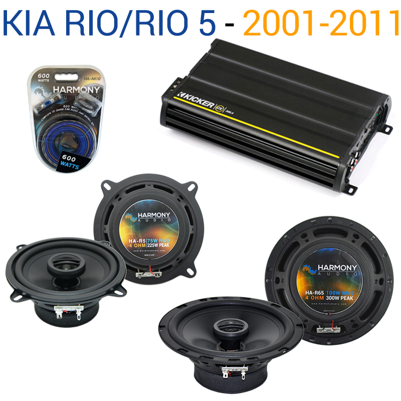 Fits Kia Rio/Rio 5 2001-2011 Speaker Replacement Harmony R65 R5 & CX300.4 Amp - Factory Certified Refurbished