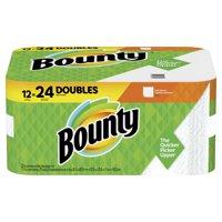 Bounty Paper Towels, White, 12 Double Rolls = 24 Regular Rolls