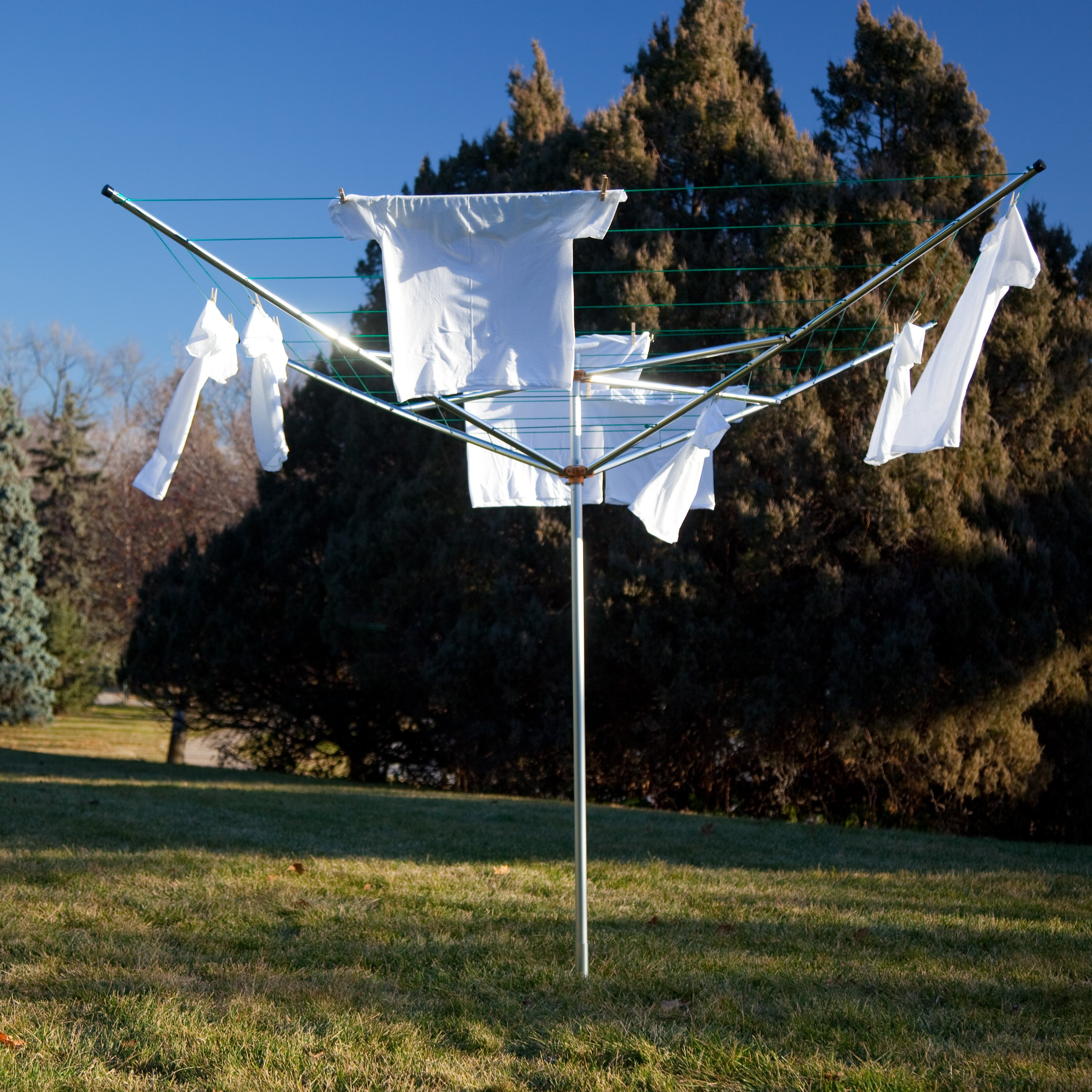 Breezecatcher TS4-36M 7-Line Outdoor Umbrella Clothesline