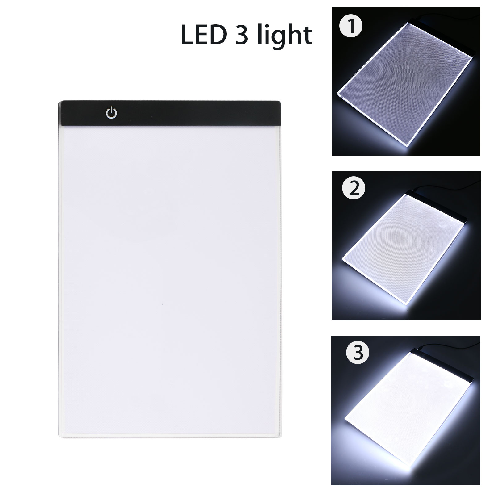 WarmShine A5 Size LED Light Box Ultra-Thin Portable Tracer LED Artcraft Tracing Light Pad Light Box 3 Level Brightness for Artists Drawing Sketching Animation and 5D DIY Diamond Painting