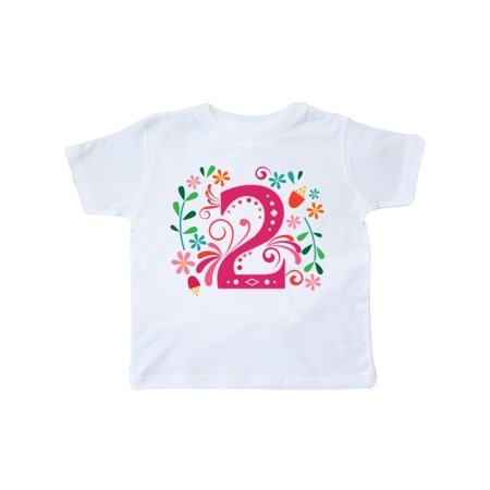 2nd Birthday 2 Year Old Girls Outfit Toddler T-Shirt