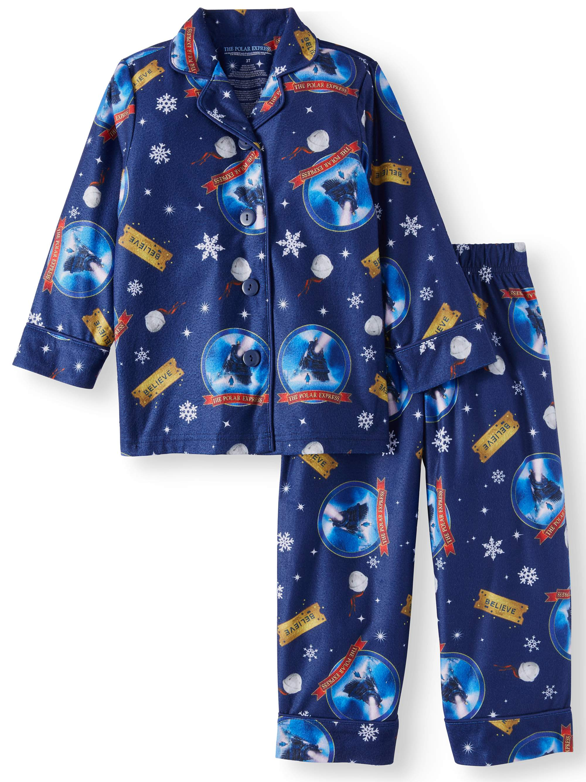 Toys From Walmart For Girls: Long Sleeve Classic Coat Pajamas, 2