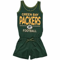 Green Bay Packers 5th & Ocean by New Era Girls Youth Baby Jersey Romper - Green