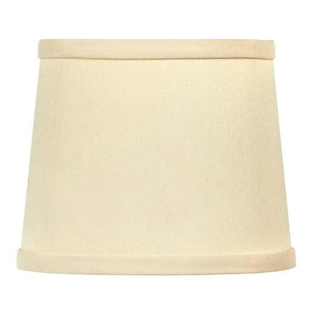 6 Inch Drum Style Chandelier Mini Lamp Shade Clip on Eggshell Silk Type Birch Drum Shell