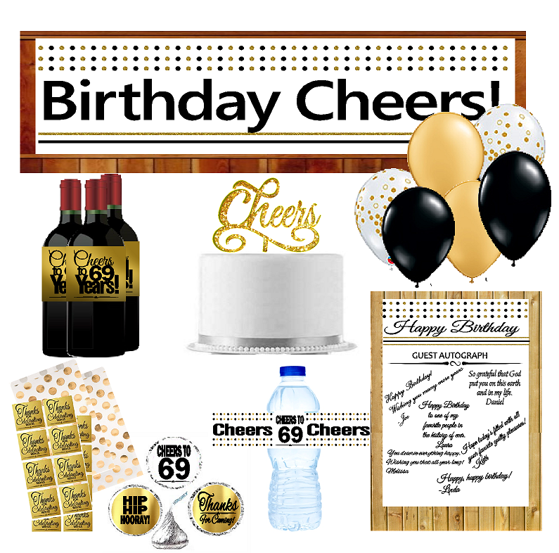69th Birthday Party DecorationsDecoraitons Kit w. Banner ...