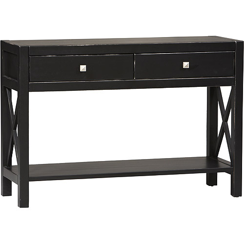 Anna Console Table, Antique Black