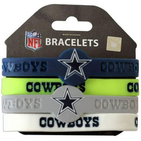 Nfl Dallas Cowboys Silicone Rubber Bracelet Set Generic Brand