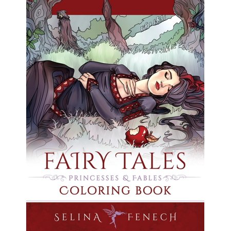Fantasy Coloring by Selina: Fairy Tales, Princesses, and Fables Coloring Book (Paperback)