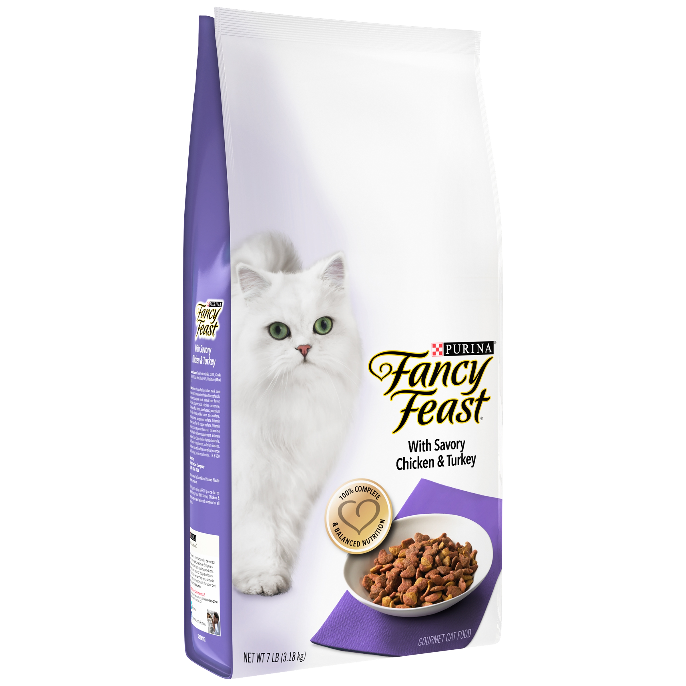 Purina Fancy Feast Gourmet Dry Cat Food With Savory Chicken & Turkey 7 lb. Bag