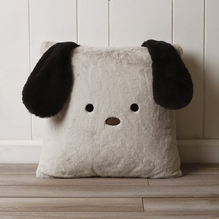 Best Home Fashion Faux Fur Plush Dog Pillow