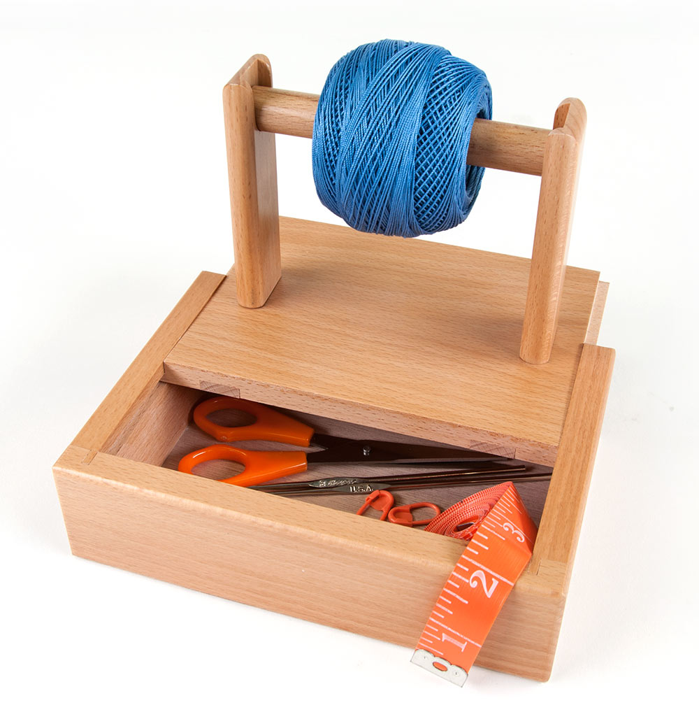 Sierra Pacific Crafts Yarn Holder with Storage