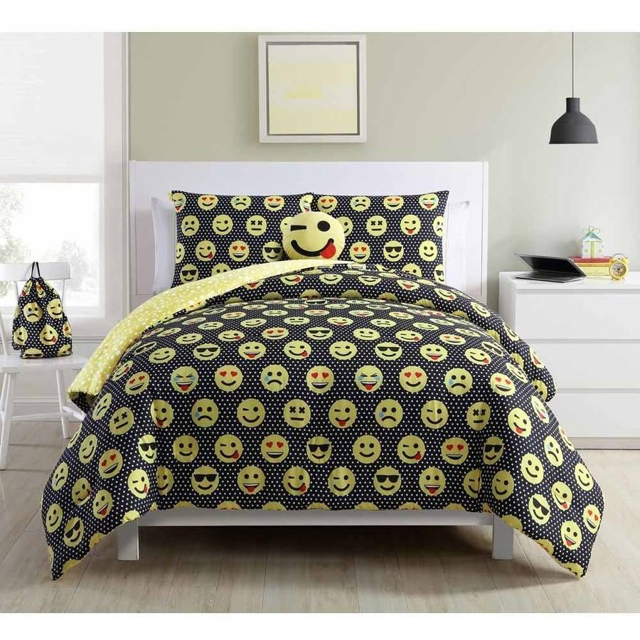 Emoji Comforter Set with BONUS Backpack and Pillow