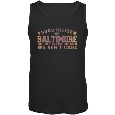 Proud No One Likes Baltimore Black Adult Tank Top
