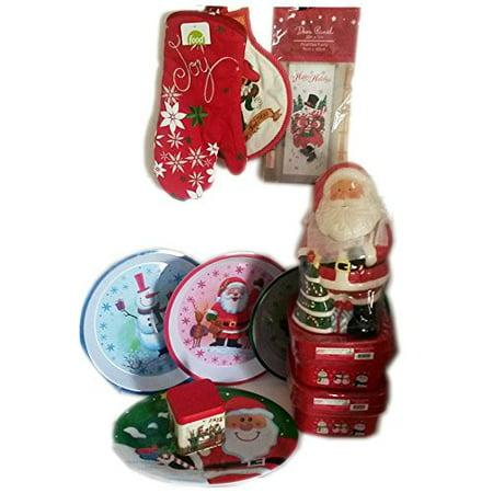 christmas holiday kitchen decor gift bundle [13 piece] - walmart