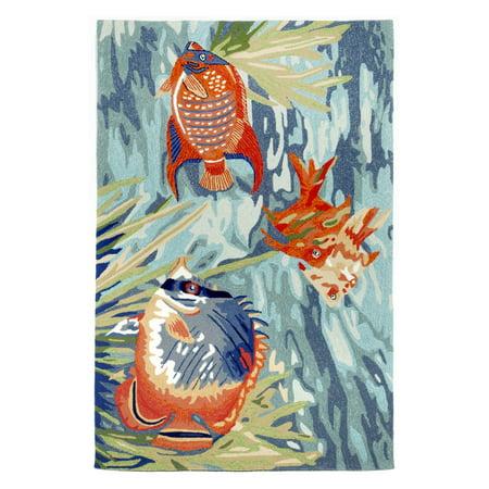 Liora Manne Ravella Tropical Fish Blue Area Rug