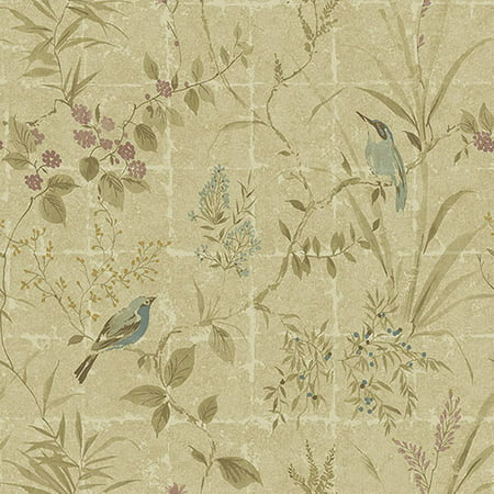 Beacon House Imperial Neutral Garden Chinoiserie Wallpaper