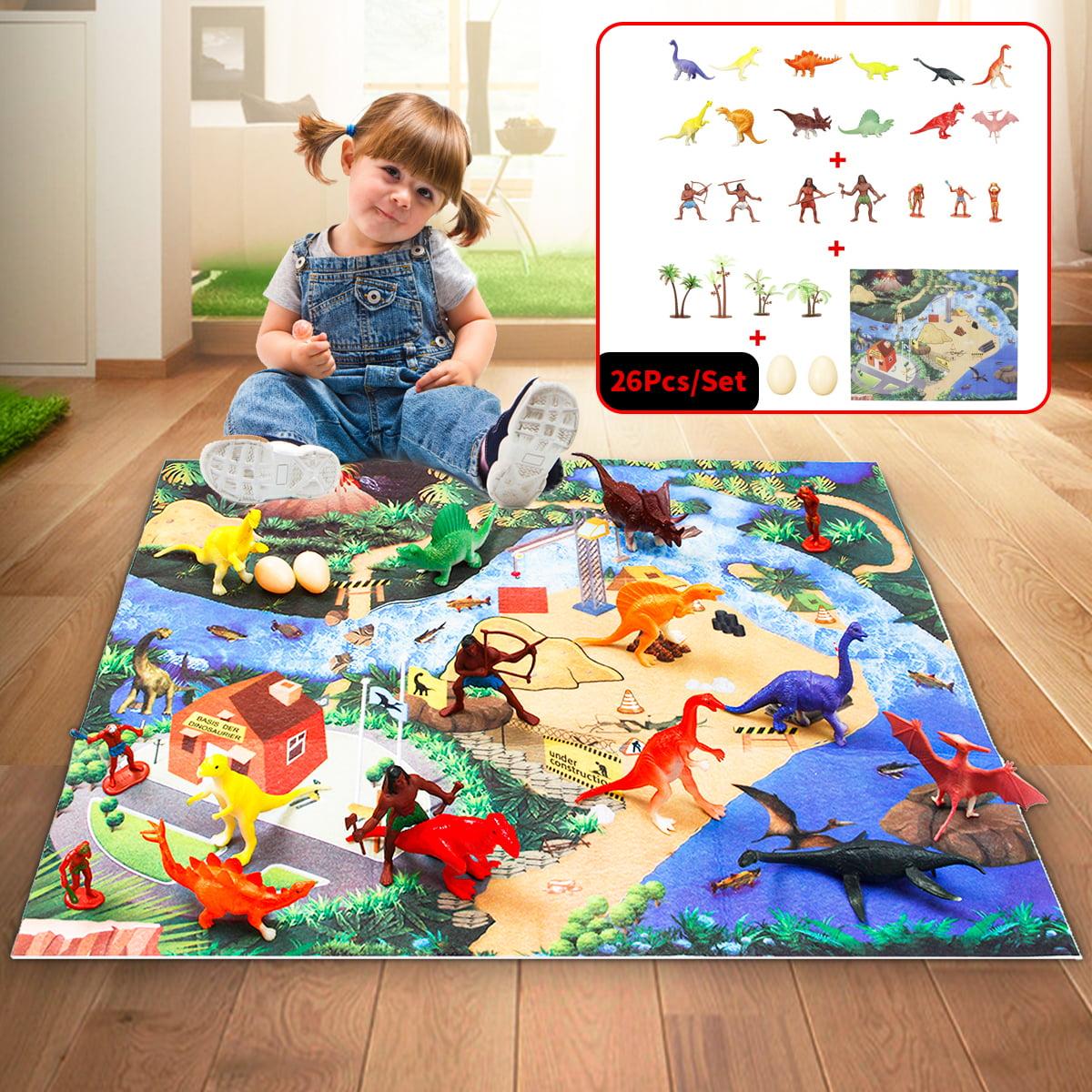 Dinosaur Kids Carpet Playmat Area Floor Rug w/ 26 Toys ...