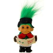 "Russ Berrie My Lucky 6"" Christmas Caroling Troll Doll Green Hair"
