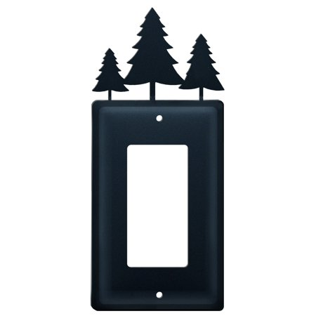 Village Wrought Iron EG-20 Pine Trees - Single GFI Cover