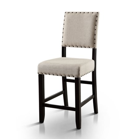 Furniture of America Freiden Rustic Counter Height Dining Chair - Set of 2, Ivory