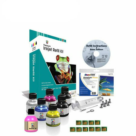 Universal Inkjet Ink Refill Kit for Kodak #10 with Chips Canon Inkjet Refill Kits
