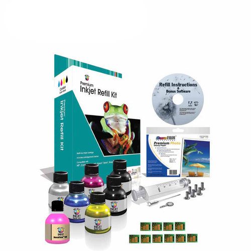 Universal Inkjet Ink Refill Kit for Kodak #10 with Chips