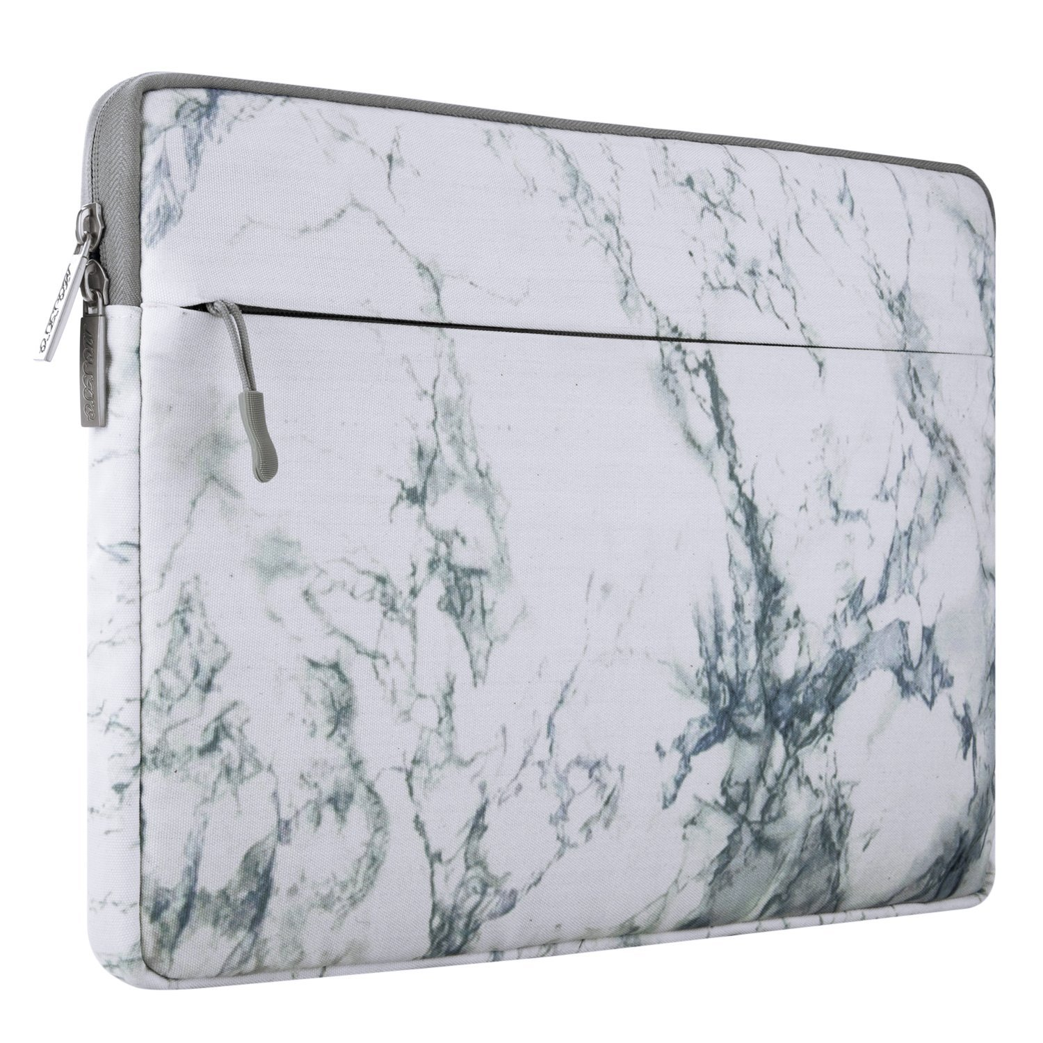 Mosiso Canvas Fabric Laptop Sleeve Case Bag Cover for 13-13.3 Inch MacBook Pro, MacBook Air, Notebook Computer, Marble Pattern