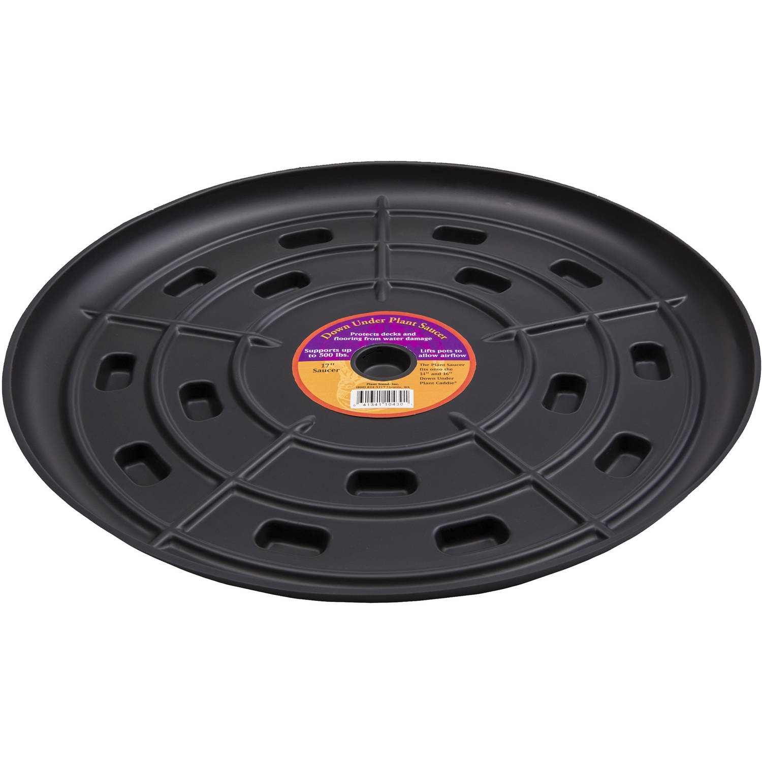 "Down Under Plant Caddie 51710 17"" Black Saucer"