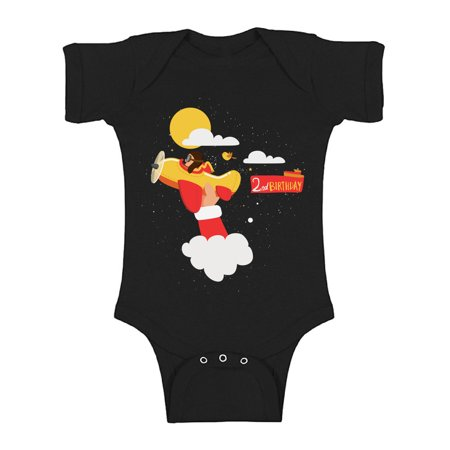 Awkward Styles Pilot One Piece 2nd Birthday Baby Bodysuit Short Sleeve Pilot Gifts for 2 Year Old Pilot One Piece Top for Baby Boy Birthday Baby Girl Bodysuit Cute 2nd Birthday Party Outfit for Baby](Gifts For 2 Year Olds)