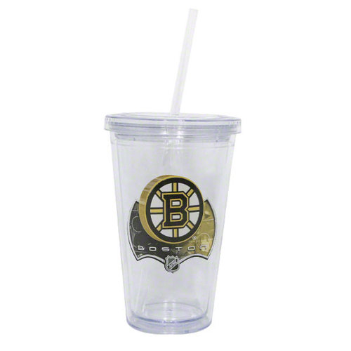 NHL - Boston Bruins Double Wall Tumbler with Straw