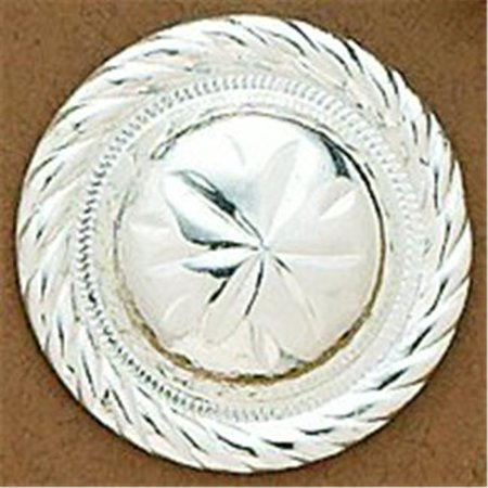Rope Edge Concho (M&F Western 25040 Round Concho 1.50 in. Rope Edge with Screw )