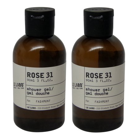 Le Labo Rose 31 Shower Gel lot of 2 each 3 Oz bottles. Total of 6