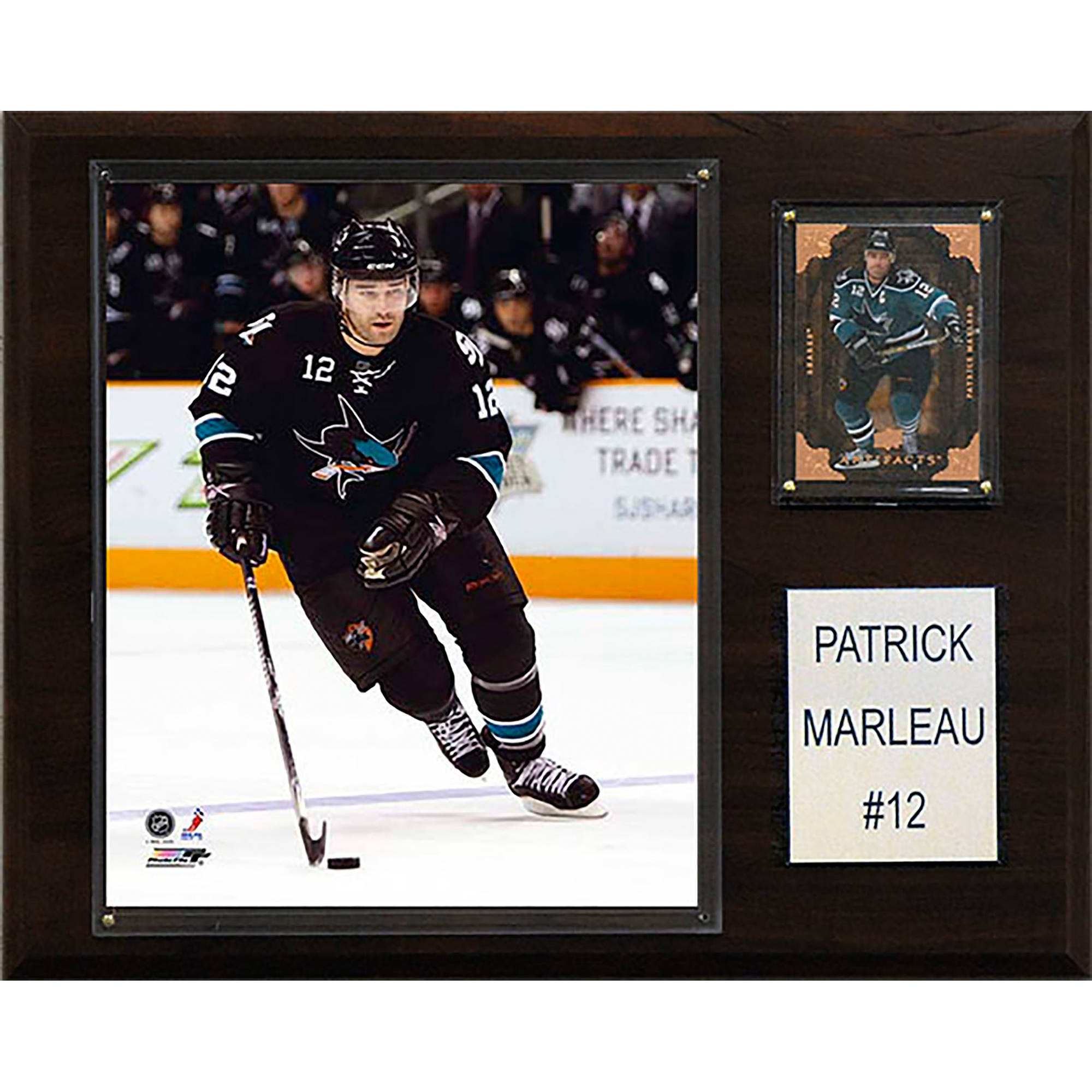 C&I Collectables NHL 12x15 Patrick Marleau San Jose Sharks Player Plaque