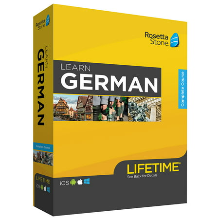 Rosetta Stone: Learn German with Lifetime Access on iOS, Android, PC, and Mac [Physical Box]
