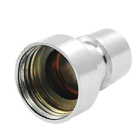 Unique Bargains Metal Water Tap Adapter Silver Tone for Washing Machine