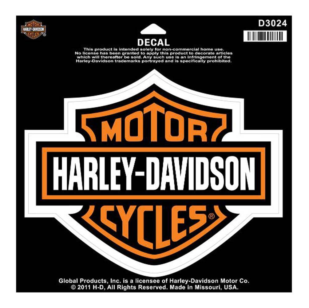 harley-davidson bar & shield large decal, large size sticker d3024