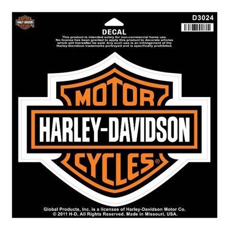 Harley davidson bar shield large decal large size sticker d3024 harley davidson