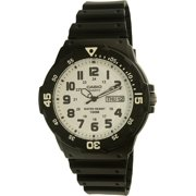 Casio Men's Dive Style Watch, Black/Blue Accents MRW200H-2BV