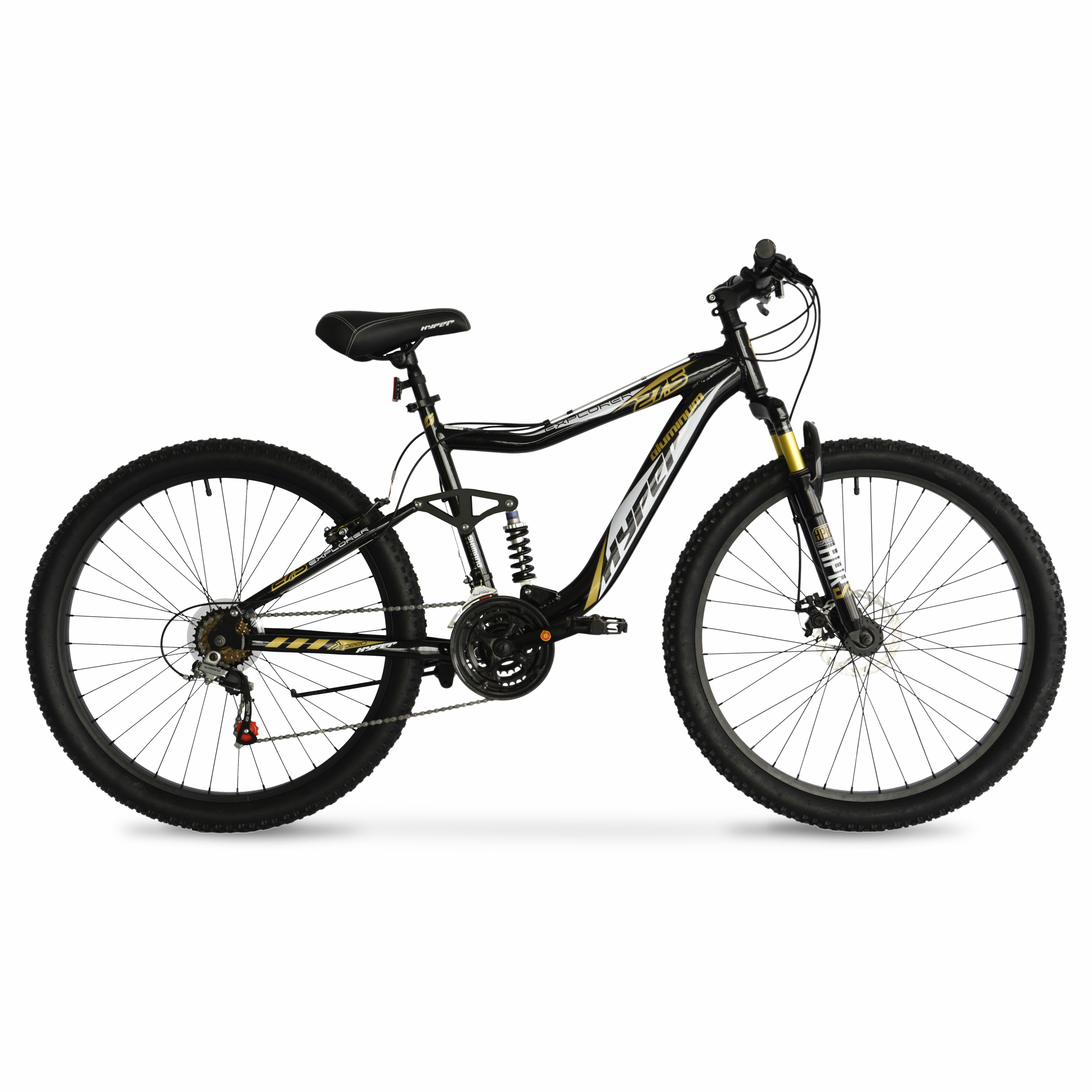 "27.5"" Men's Hyper Explorer Mountain Bike - Aluminum Suspension Frame with Shimano Components!"