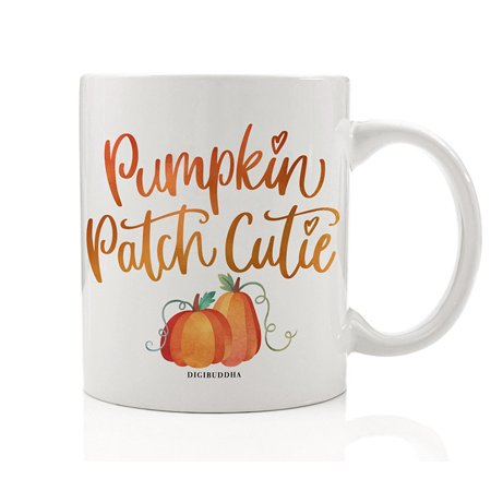 Pumpkin Patch Cutie Coffee Mug Gift Idea Fall Birthday Autumn Halloween Thanksgiving Dinner Seasonal Present Partner Friend Wife Husband Home Coworker Office 11oz Ceramic Tea Cup Digibuddha DM0374 - Halloween Pumpkin Ideas Patterns