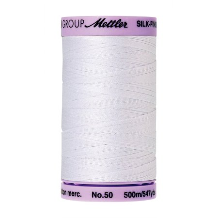 Long Arm Quilting Thread (Silk-Finish Solid Cotton Thread, 547 yd/500m, White, Both solids and multi's are perfect for all your quilting, sewing and long arm cotton needs By)