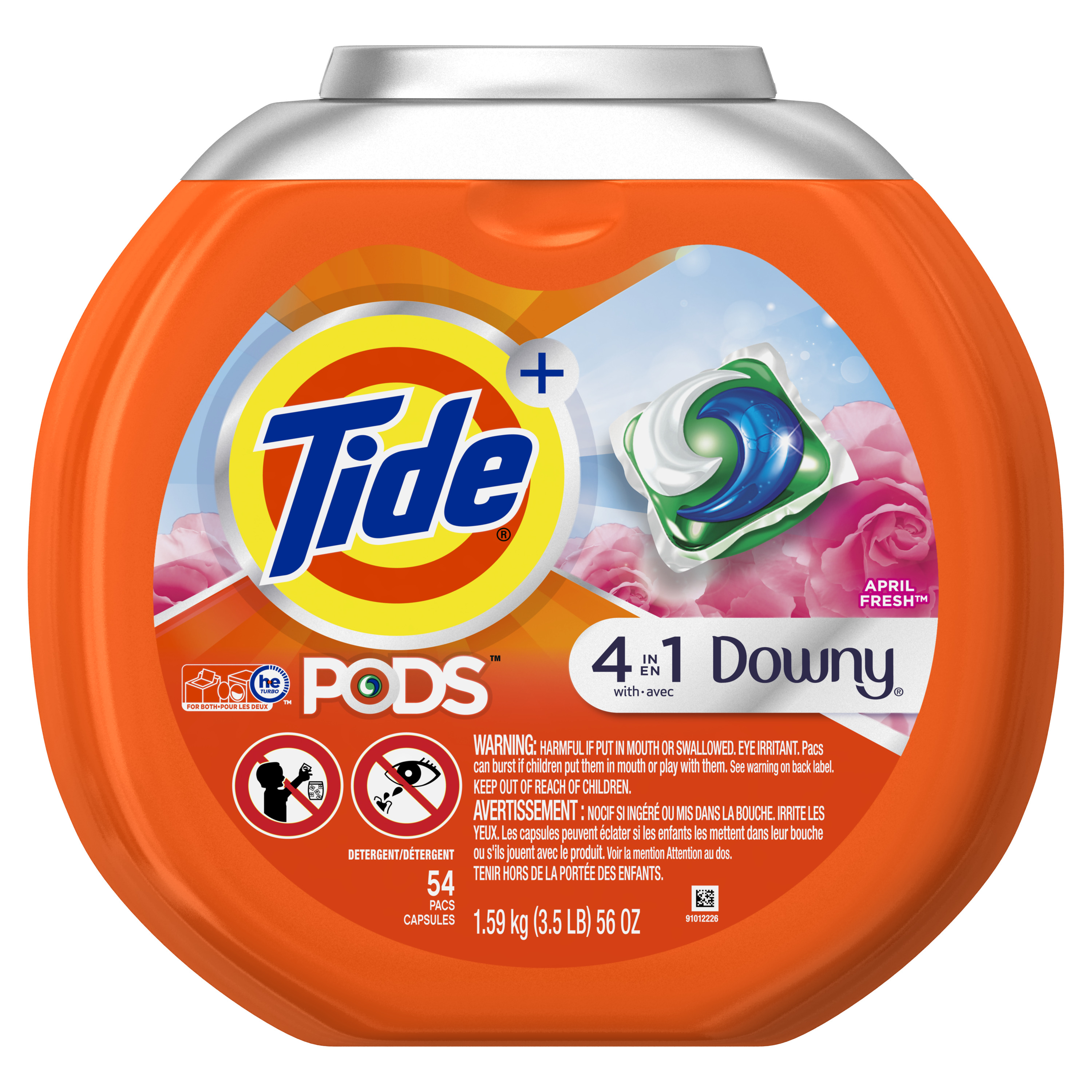Tide PODS Laundry Detergent Pacs with Downy, April Fresh, 54 count