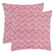 Safavieh Victor Rose Red/Purple Decorative Pillows - Set of 2