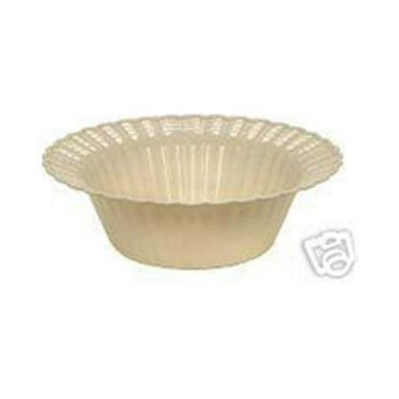 CPC 5ELIP 5 oz Elegant Ivory Disposable Hard Plastic Dessert Bowls, Case of 18